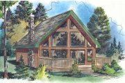 Cabin Style House Plan - 2 Beds 1 Baths 668 Sq/Ft Plan #18-4505