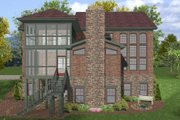 Craftsman Style House Plan - 4 Beds 4 Baths 2953 Sq/Ft Plan #56-560 Exterior - Rear Elevation
