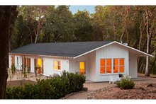 Dream House Plan - Contemporary Ranch style home, inspired by Joseph Esherick