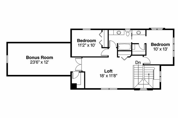 Cottage Floor Plan - Upper Floor Plan Plan #124-909