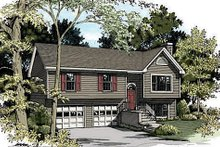 Dream House Plan - Traditional Exterior - Front Elevation Plan #56-117