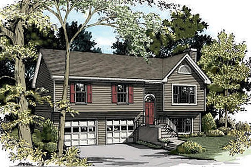 Traditional Exterior - Front Elevation Plan #56-117
