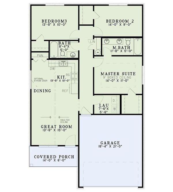 Cottage Floor Plan - Main Floor Plan Plan #17-2546