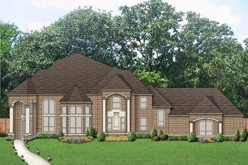 Dream House Plan - European Exterior - Front Elevation Plan #84-434