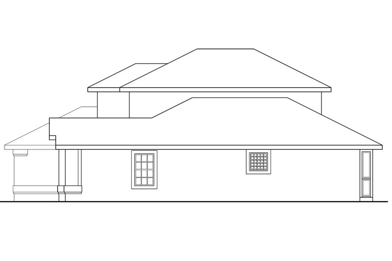 Traditional Exterior - Other Elevation Plan #124-242 - Houseplans.com