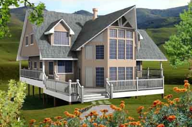 House Plan - 6 Beds 3 Baths 2682 Sq/Ft Plan #118-104 Exterior - Front Elevation