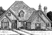 Colonial Style House Plan - 4 Beds 3.5 Baths 2811 Sq/Ft Plan #310-722 Exterior - Front Elevation