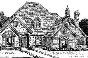 Colonial Exterior - Front Elevation Plan #310-722
