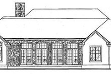 House Plan Design - Country Exterior - Rear Elevation Plan #20-130