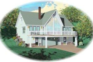 Cottage Exterior - Front Elevation Plan #81-693
