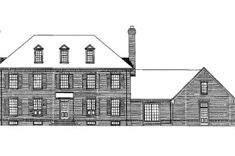 Colonial Exterior - Rear Elevation Plan #72-331 - Houseplans.com