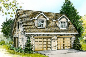 Country Exterior - Front Elevation Plan #140-105