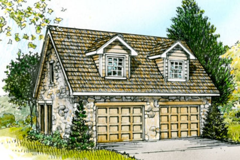 Country Style House Plan - 0 Beds 1.5 Baths 566 Sq/Ft Plan #140-105 Exterior - Front Elevation