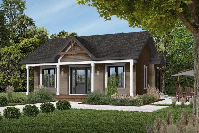 Cottage Exterior - Front Elevation Plan #23-105