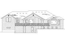 House Plan Design - Traditional Exterior - Rear Elevation Plan #5-342