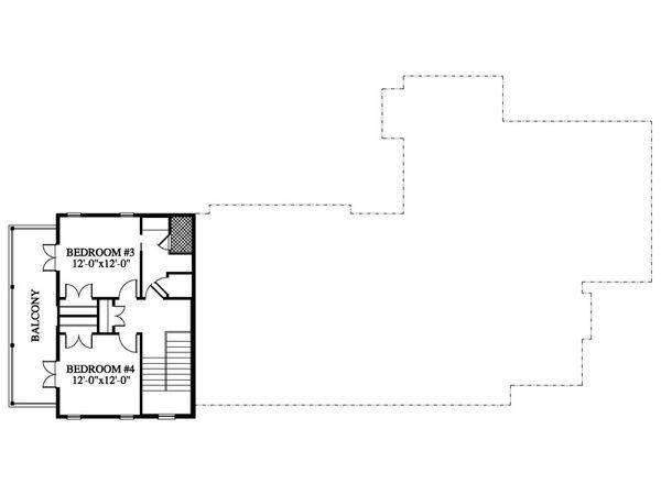 Beach Style House Plan - 4 Beds 3 Baths 2735 Sq/Ft Plan #426-21 Floor Plan - Upper Floor Plan