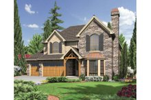 Home Plan - European Exterior - Front Elevation Plan #48-442