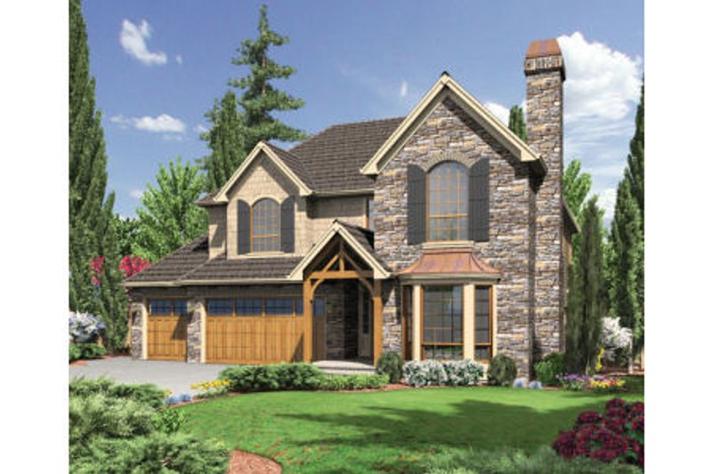 Dream House Plan - European Exterior - Front Elevation Plan #48-442