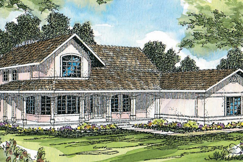 House Design - Mediterranean Exterior - Front Elevation Plan #124-409