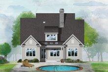 House Design - Farmhouse Exterior - Rear Elevation Plan #929-1064