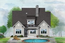 Dream House Plan - Farmhouse Exterior - Rear Elevation Plan #929-1064