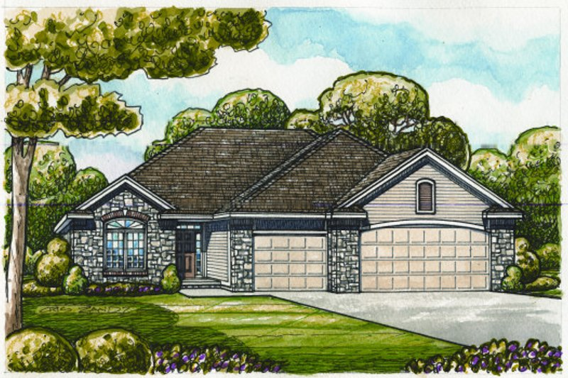 Dream House Plan - Traditional Exterior - Front Elevation Plan #20-2089