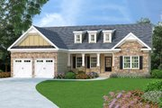 Craftsman Style House Plan - 3 Beds 2 Baths 1566 Sq/Ft Plan #419-104 Exterior - Front Elevation