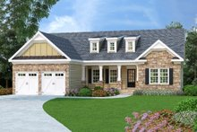Craftsman Exterior - Front Elevation Plan #419-104
