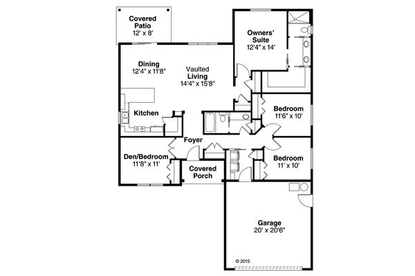 Traditional Floor Plan - Main Floor Plan Plan #124-1009