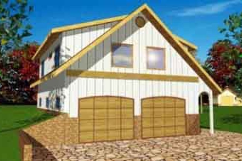Traditional Exterior - Front Elevation Plan #117-251 - Houseplans.com