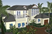 Mediterranean Style House Plan - 4 Beds 5.5 Baths 4450 Sq/Ft Plan #548-17 Exterior - Front Elevation