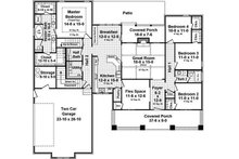 Craftsman Floor Plan - Main Floor Plan Plan #21-361