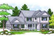 Traditional Style House Plan - 4 Beds 2.5 Baths 2325 Sq/Ft Plan #70-663 Exterior - Front Elevation