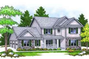 Traditional Exterior - Front Elevation Plan #70-663