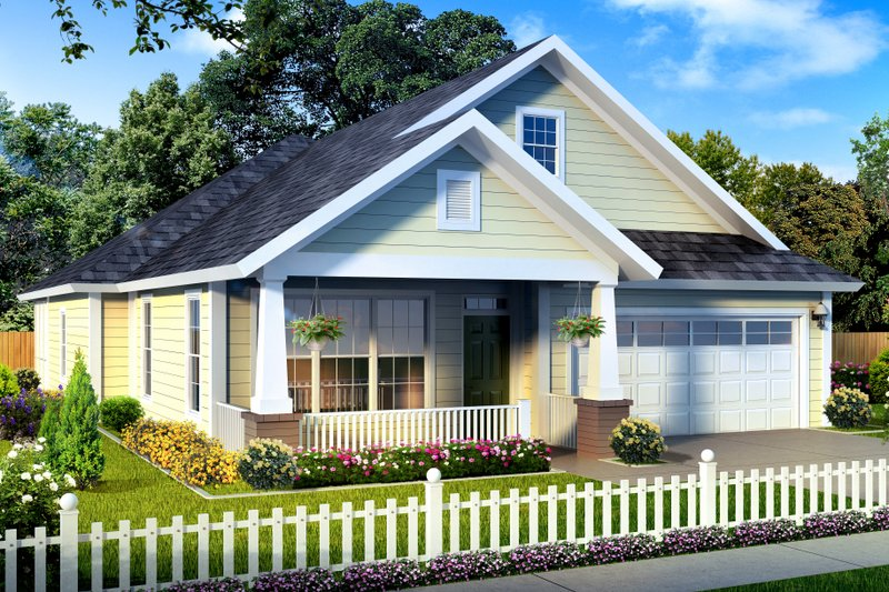 Bungalow Style House Plan - 3 Beds 2 Baths 1581 Sq/Ft Plan #513-2085