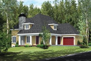 Cottage Exterior - Front Elevation Plan #25-4485
