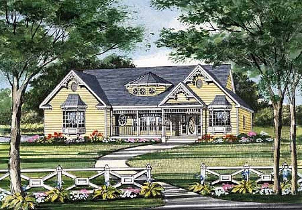 Victorian Style House Plan - 3 Beds 2.5 Baths 1466 Sq/Ft ...