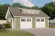 Dream House Plan - Country Exterior - Front Elevation Plan #1064-57