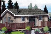 Cabin Style House Plan - 2 Beds 1 Baths 728 Sq/Ft Plan #312-721