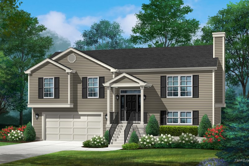 Home Plan - Traditional Exterior - Front Elevation Plan #22-628