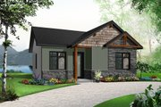 Cottage Style House Plan - 2 Beds 1 Baths 629 Sq/Ft Plan #23-2298 Exterior - Front Elevation