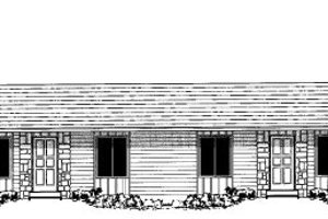Ranch Exterior - Front Elevation Plan #303-354