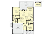 Country Style House Plan - 5 Beds 4 Baths 2072 Sq/Ft Plan #930-495 Floor Plan - Main Floor