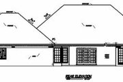 Traditional Style House Plan - 3 Beds 2 Baths 2355 Sq/Ft Plan #36-210 Exterior - Rear Elevation