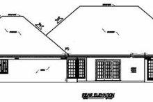 Home Plan Design - Traditional Exterior - Rear Elevation Plan #36-210