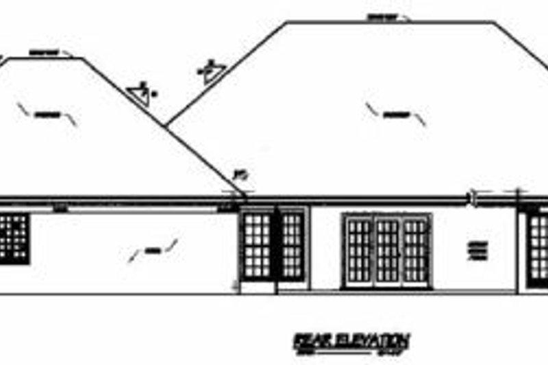 Traditional Exterior - Rear Elevation Plan #36-210 - Houseplans.com