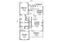 Craftsman Floor Plan - Main Floor Plan Plan #513-2169