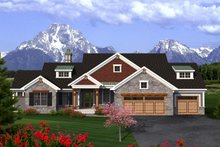 Dream House Plan - Ranch Exterior - Front Elevation Plan #70-1198