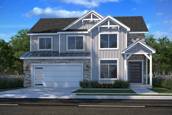 Craftsman Exterior - Front Elevation Plan #1073-16