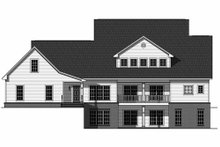 Home Plan - Country Exterior - Rear Elevation Plan #21-323